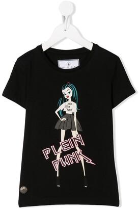 Philipp Plein Thunder doll-print cotton T-shirt