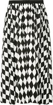 Tome diamond print full skirt - women - Cotton - 2