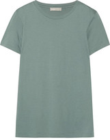 Vince Boy Pima Cotton-jersey T-shirt - Gray green