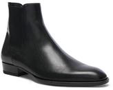 Saint Laurent Leather Wyatt Chelsea Boots in Black.
