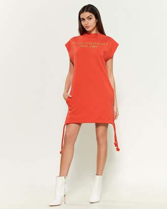 Philosophy di Lorenzo Serafini Drawstring Hem Sweatshirt Dress
