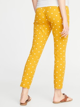 Old Navy Maternity Full-Panel Patterned Pixie Pants