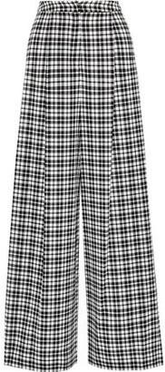 Novis The Elba Checked Wool Wide-leg Pants