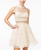 Sequin Hearts Sequin Heart Juniors' Lace Crop Top & Ballerina Skirt Set