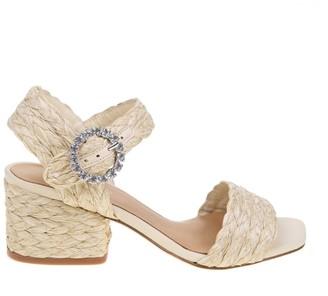 Paloma Barceló sandal In Woven Raffia Natural Color