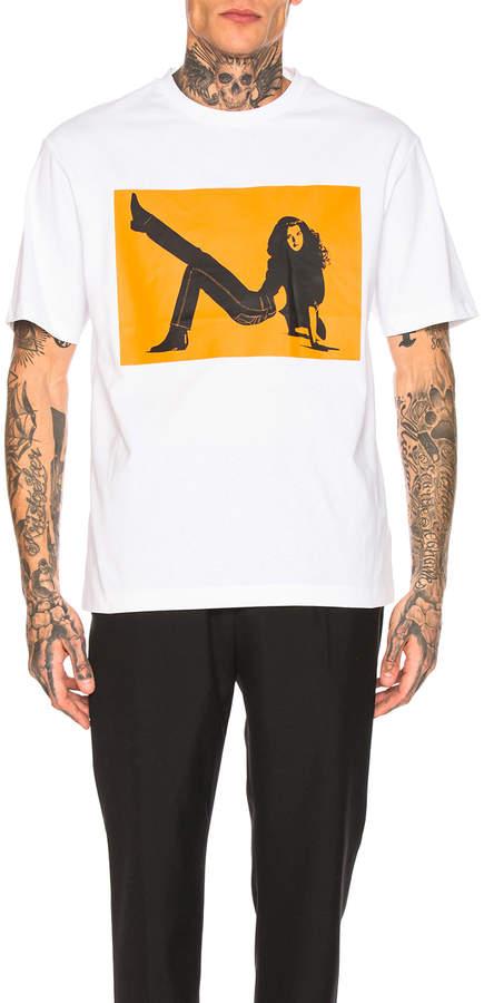 Calvin Klein Est. 1978 Icon Print Tee in White & Orange | FWRD