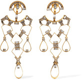 Erickson Beamon Geometry One Gold-plated Swarovski Crystal Earrings - One size