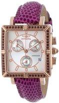 Invicta 10336 Women's Wildflower Classique Quartz Crystal Accented Purple Watch w/ 7-Piece Leather Strap Set