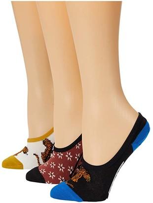Vans Tiger Floral Canoodles 3-Pack (Multi) Women's Crew Cut Socks Shoes