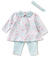 Little Me Baby Girls 3-12 Months Butterfly-Printed Tunic and Striped Leggings Set