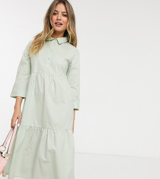 JDY shirt dress with 3/4 sleeve in mint