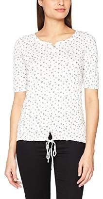 Tom Tailor Women's Alloverprinted Crinkle Shirt T (Whisper White 8210), Small