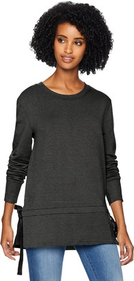 Daily Ritual Amazon Brand Womens Terry Cotton and Modal Side-Tie Sweatshirt