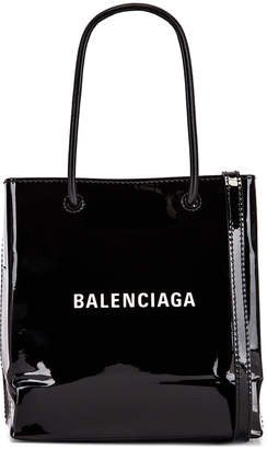 Balenciaga XXS Shopping Tote Bag in Black   FWRD