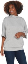 Dennis Basso Oversized Knit Turtleneck with Dolman Sleeves