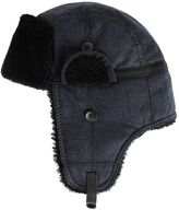 Rag and Bone Trapper Hat - Navy Houndstooth