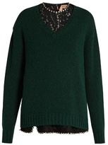 No.21 NO. 21 Layered alpaca-blend sweater