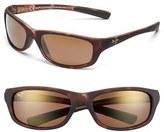 Maui Jim Men's 'Kipahulu - Polarizedplus2' 59Mm Sunglasses - Gloss Black/ Neutral Grey