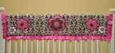 Bacati Damask Pink/Chocolate Crib Rail Protector