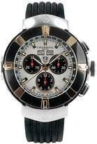 Charriol Celtica Mother of Pearl Dial Chronograph Black Rubber Men's Watch