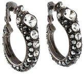 Kenneth Jay Lane Crystal Hoop Earrings