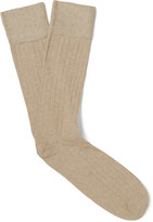 Corgi - Ribbed Cotton-blend Socks