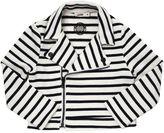Junior Gaultier Striped Light Cotton Sweatshirt Jacket