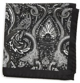 Eton Men's Paisley Silk Pocket Square