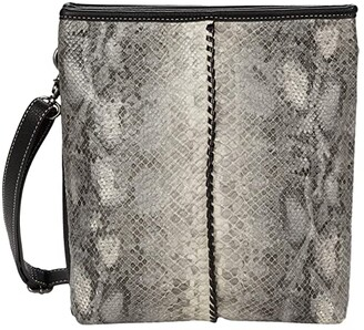 M&F Western Python Crossbody (Grey/Black Python Print) Handbags