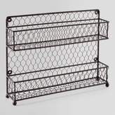 World Market Wire Two-Tier Spice Rack