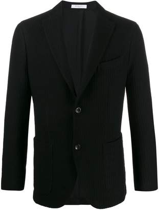 Boglioli ribbed style fitted blazer