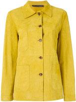 Simonetta Ravizza button front jacket - women - Goat Suede/Cupro - 44