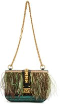 Valentino Garavani feather shoulder bag - women - Leather/Suede/Pearls/Peacock Feathers - One Size
