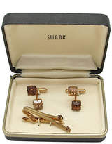 One Kings Lane Vintage Swank Rhinestone Cuff Links & Tie Clip