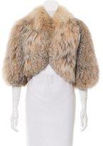 Antonio Berardi EMbellished Fox Fur Jacket