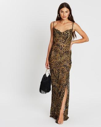 Missguided Animal Velvet Maxi Dress