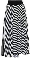 Schumacher Dorothee Striped pleated-crepe skirt