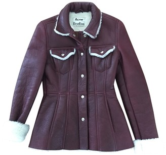 Acne Studios Red Shearling Jacket for Women