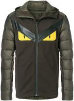 Fendi hooded appliqué bomber jacket