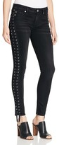True Religion Halle Crop Lace-Up Jeans in Pepper