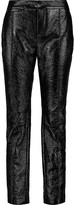 Marc by Marc Jacobs Glossed faux textured-leather slim-leg pants