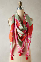 Anthropologie Bright Floral Square Scarf