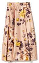 Rochas Printed Duchess Midi Skirt
