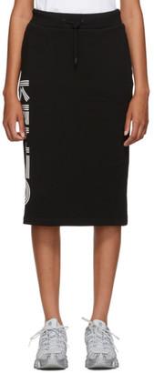 Kenzo Black Logo Sport Jog Midi Skirt