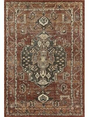 World Menagerie Hessler Abani Power Loom Red/Brown Rug Rug Size: Rectangle 6' x 9'