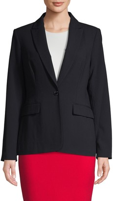 Calvin Klein Collection One-Button Blazer