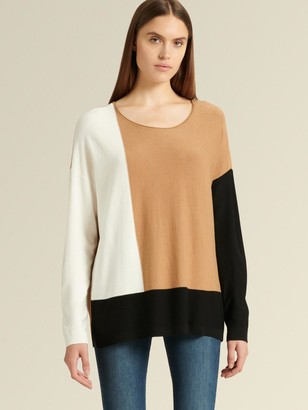 DKNY Boat-neck Colorblock Sweater