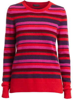 Saks Fifth Avenue Stripe Cashmere Crew Sweater