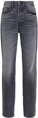 GRLFRND Mica High-Rise Straight-Leg Jeans