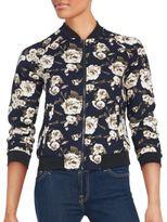 Romeo & Juliet Couture Floral Zip-Front Jacket